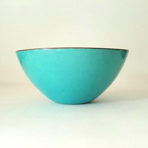 Turquoise Enamel Bowl