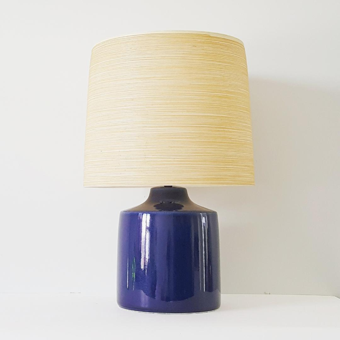 ... Cobalt Blue Table Lamp With Original Shade. Béazley Vintage Finds